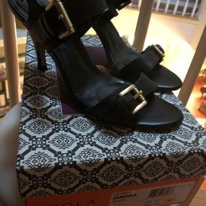 Black heel Sandals